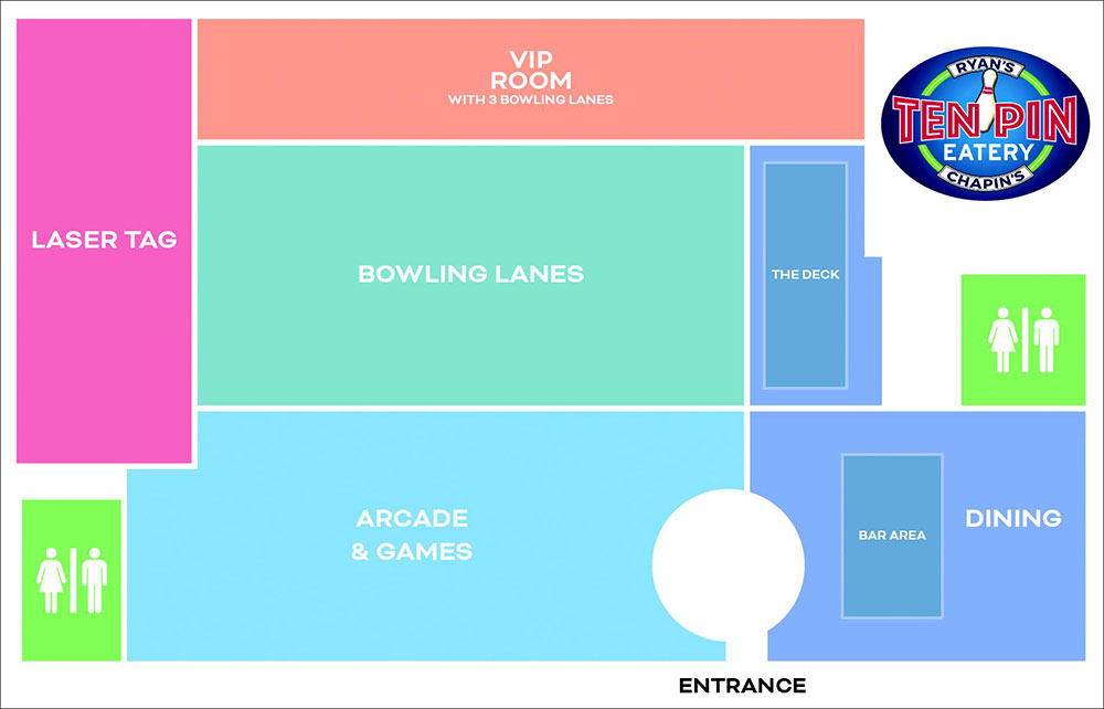 map of venue layout | groups - events - parties