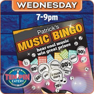 Music Bingo @ Ten Pin Eatery