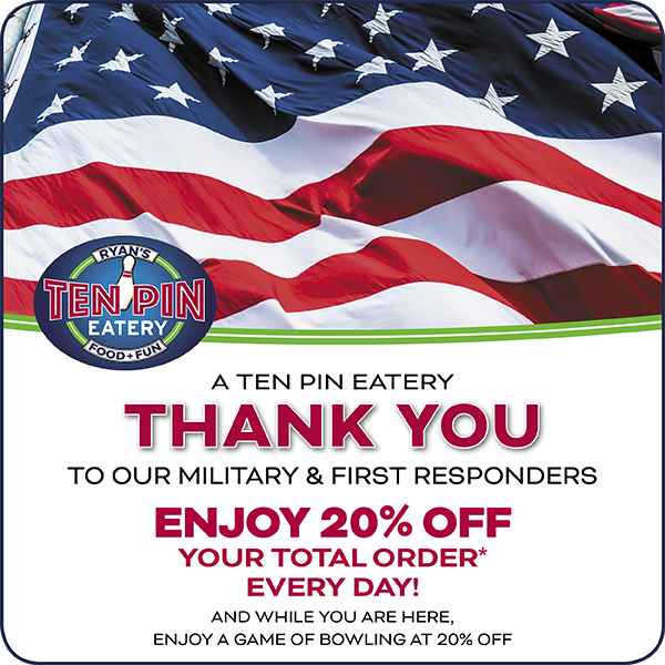 Military and 1st Responders Special Deal Flyer