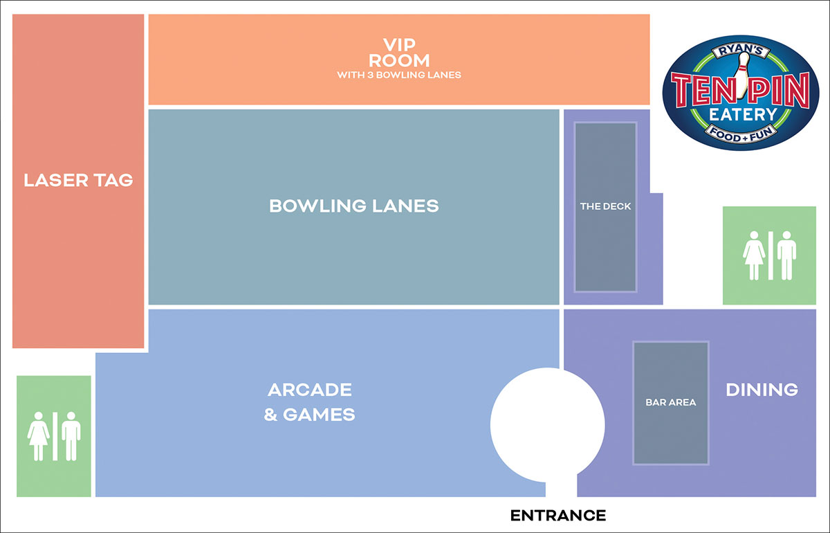 Ten Pin Eatery floor plan diagram