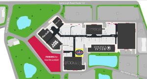 Cape Cod Mall parking map