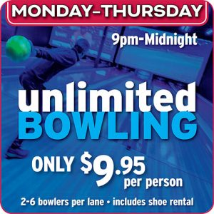 Unlimited Bowling @ Ten Pin Eatery
