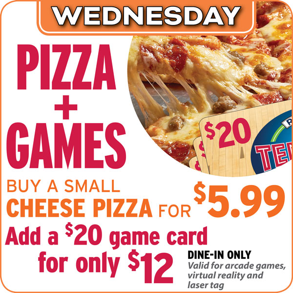 pizza and games special offer