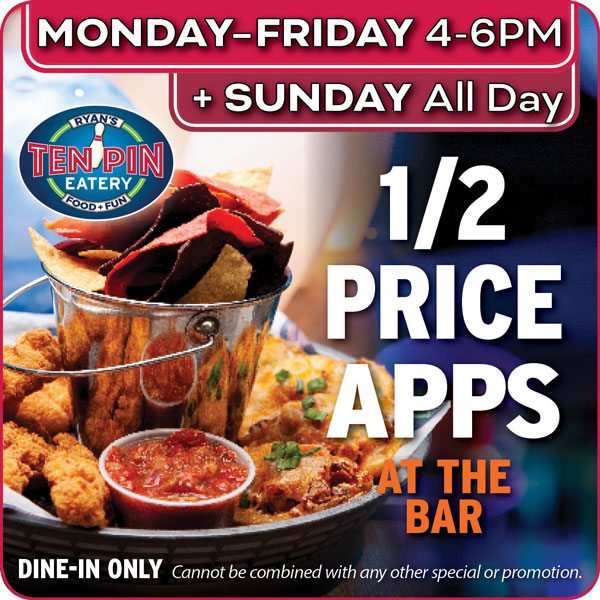 MON-FRI and SUN Half Price APPS