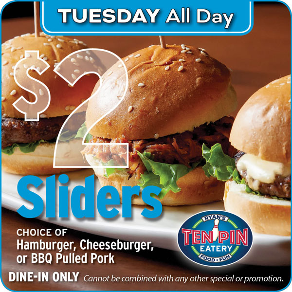 Sliders special offer