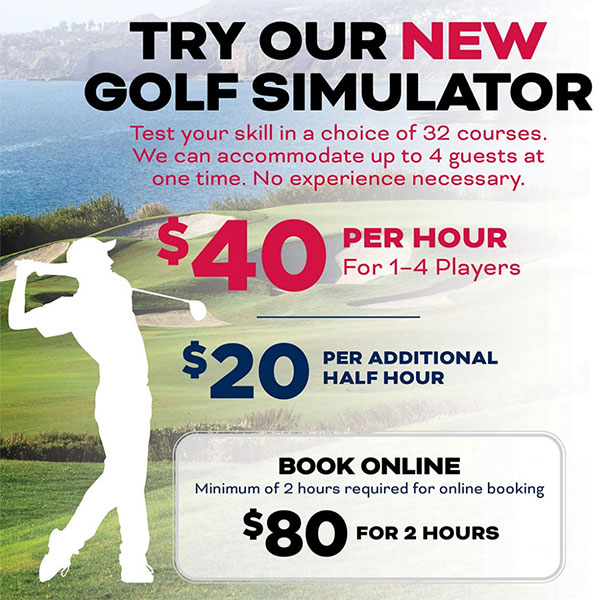 golf simulator flyer