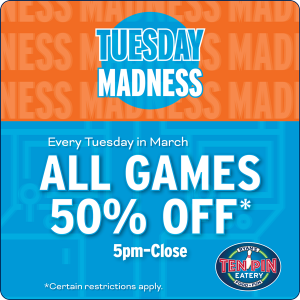 Tuesday Madness 1/2 Price Games